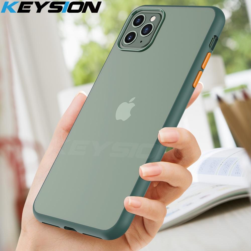 Funda mate de moda KEYSION para iPhone 11 Pro 11 Pro Max a prueba de golpes para Apple iPhone SE 2020 XS Max XR 7 8 Plus