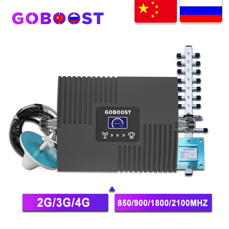 Усилитель сигнала сотовой связи 2G/3G/4G GOBOOST GB17, 850/900/1800/2100 МГц