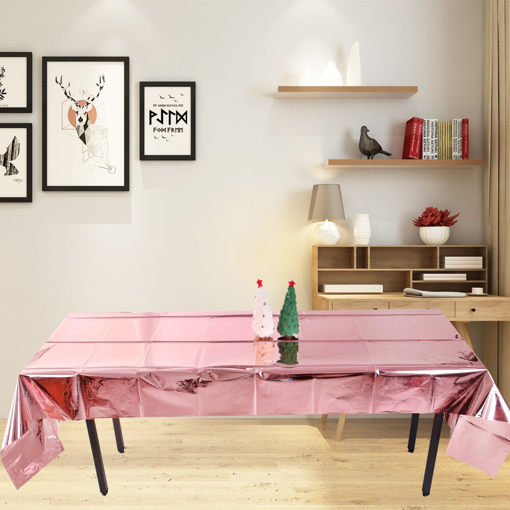 Mantel rectangular para mascotas, mantel brillante, funda de lino para fiesta/boda/Banquete/restaurante en colores sólidos