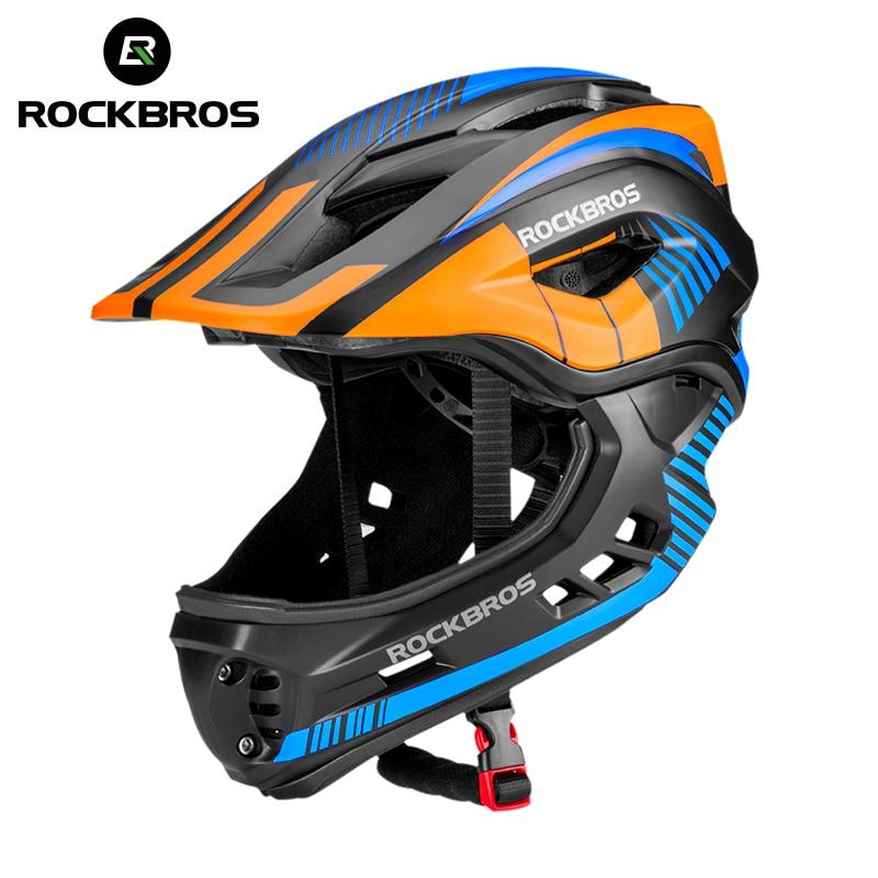 ROCKBROS 2 в 1, полностью покрытые детские шлемы, велосипедные, детские шлемы с животными, спортивные защитные шляпы EPS для параллельного автомоб...