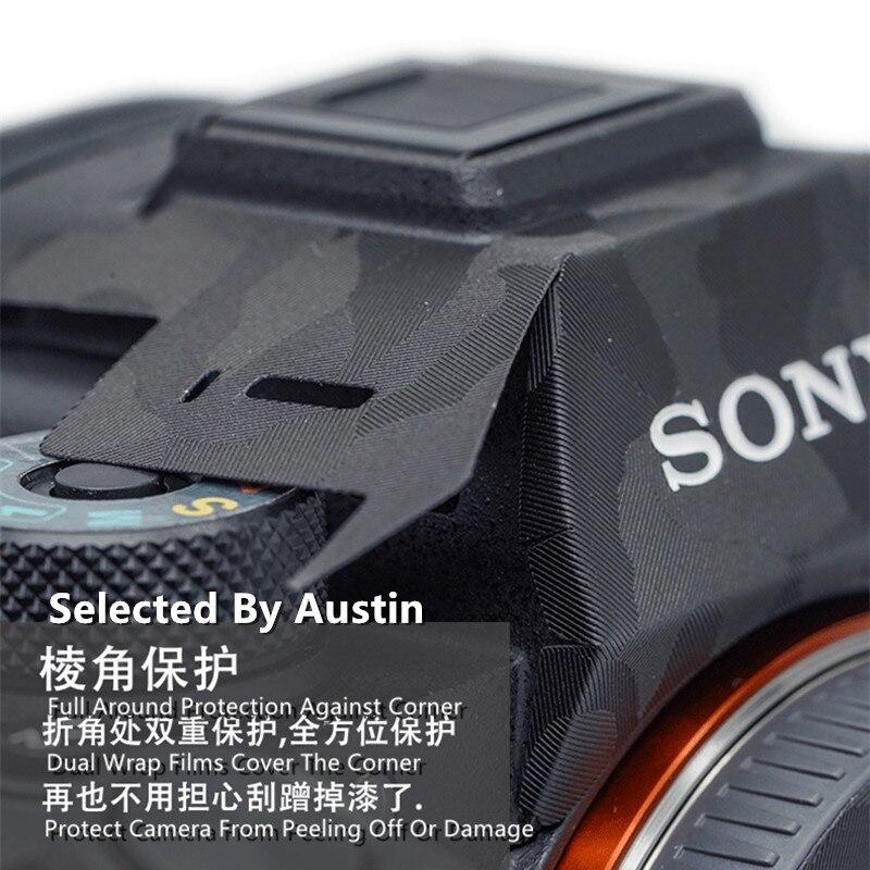 Filme premium do envoltório do decalque da pele da câmera para sony a7 a7r a7 mark 1 protetor anti-scratch decalque adesivo