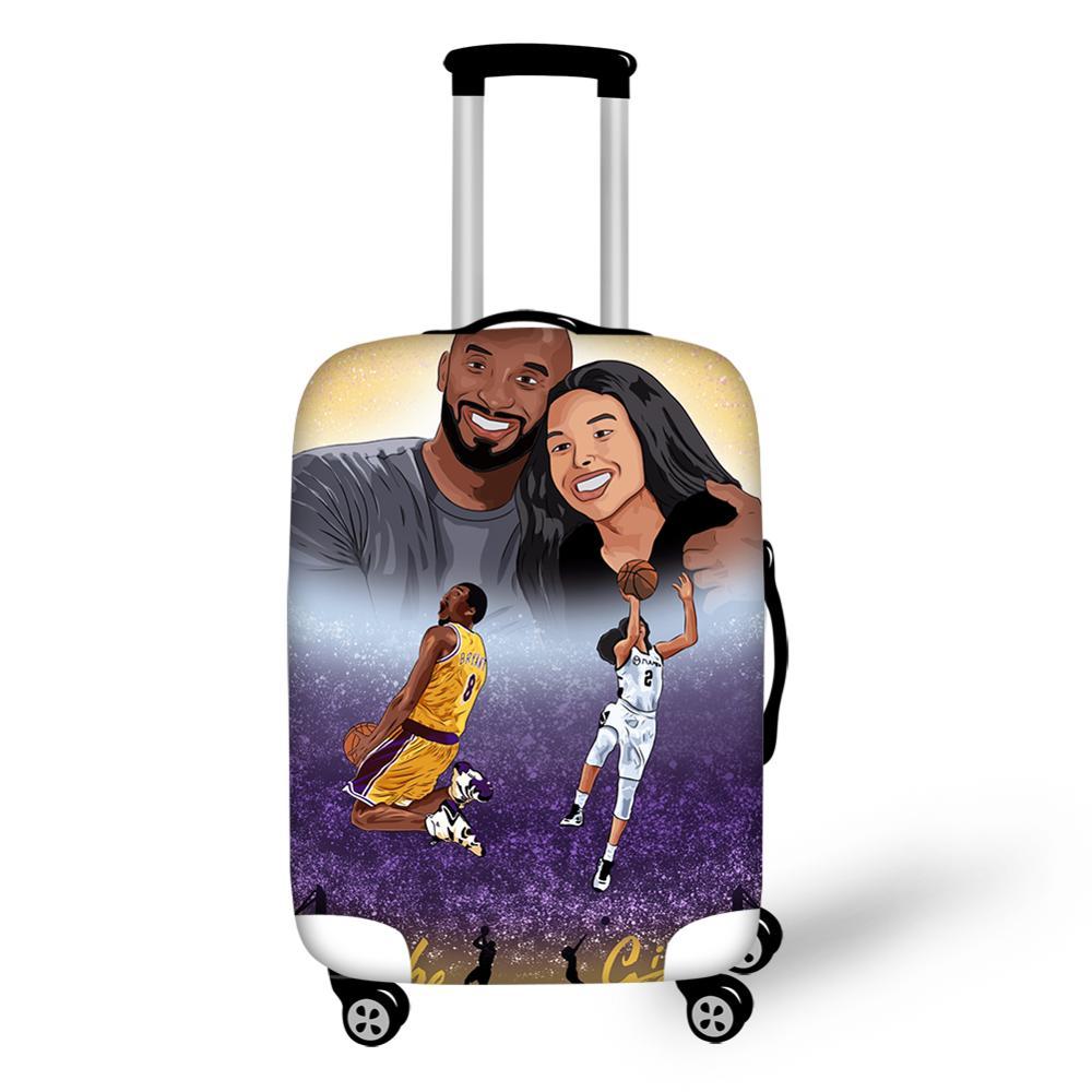 Дорожный Чехол для чемодана HaoYun с рисунком баскетбольной звезды, эластичный пыленепроницаемый и водонепроницаемый чехол для чемодана с му...