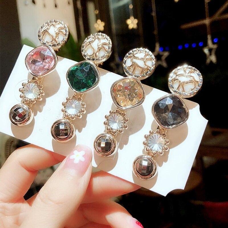 Pasadores de cristal coreanos Ins para mujer 2020, horquillas de cristal geométricas a la moda, horquillas, accesorios para el cabello, horquillas de joyería