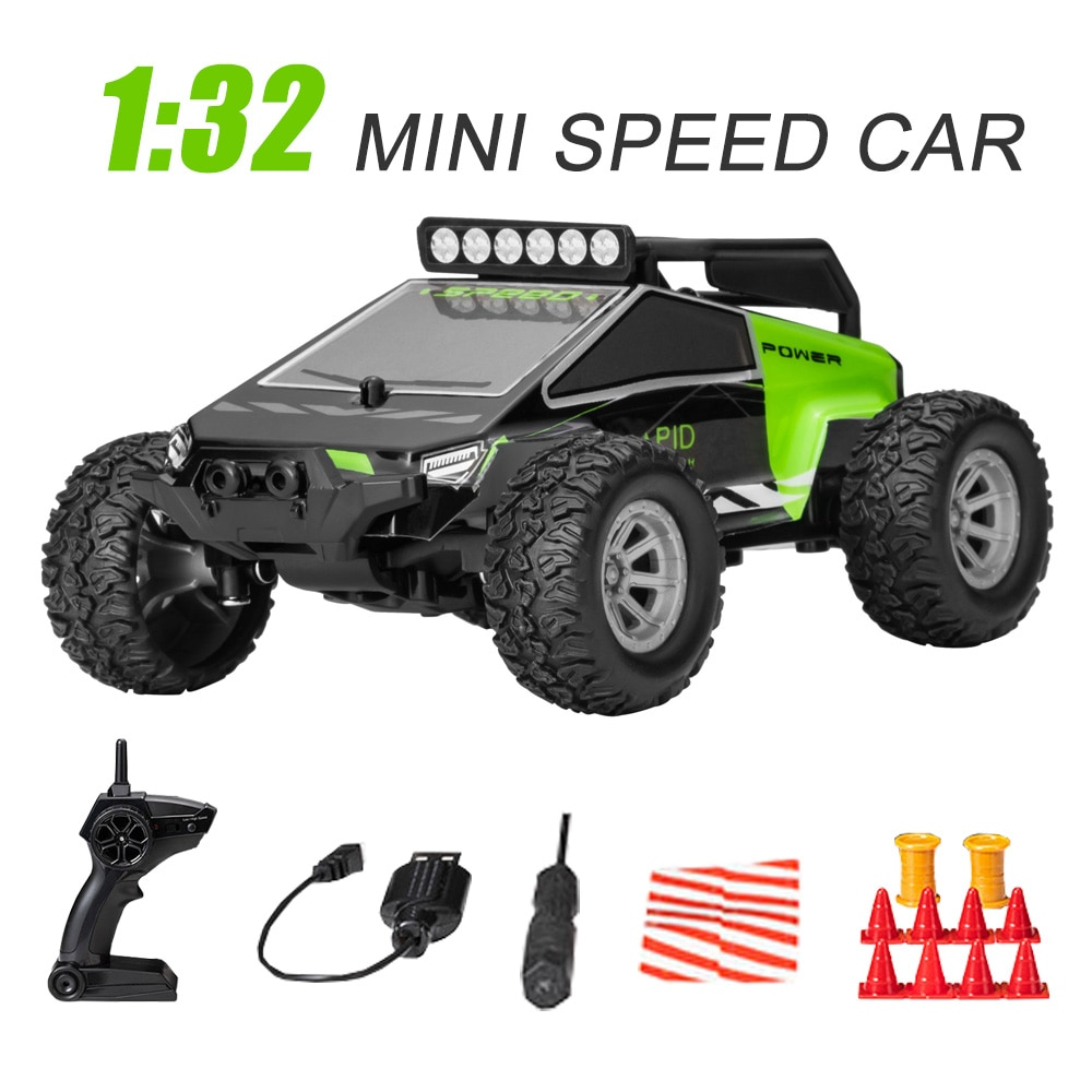1:32 4CH 2WD 2.4GHz Mini RC Car Off-Road Racing Full Scale High Speed 20km/h Remote Control Climbing Car Truck Vehicle Kid Toys