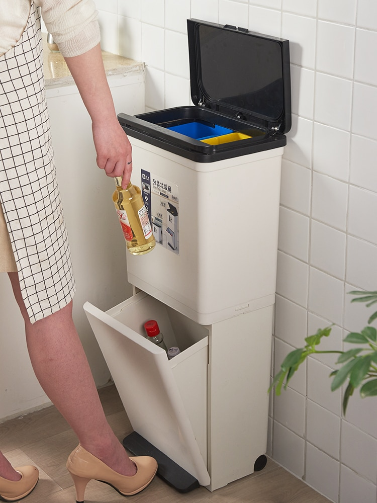 Zero Waste Trash Can Storage Bin Bathroom Trash Can Recycling Bin Waste Container Poubelle Salle De Bain Recycling Bin BA60LJ enlarge