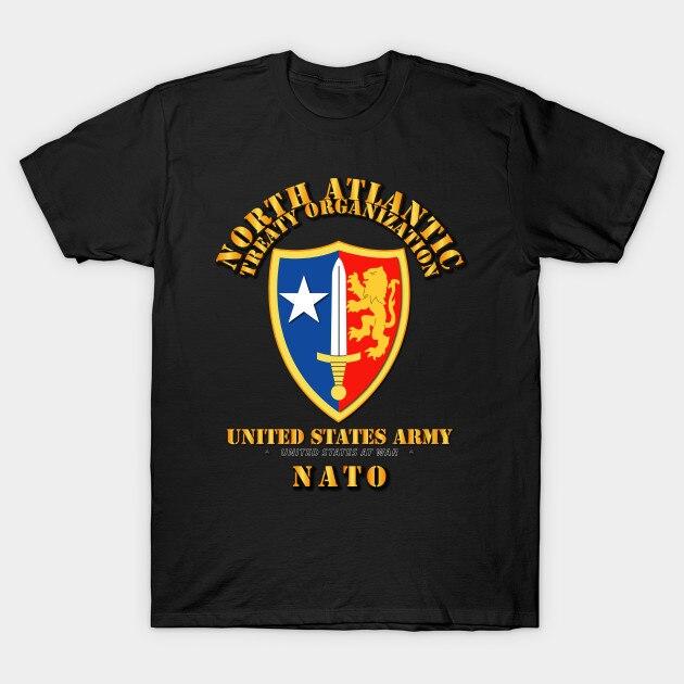 Camiseta de hombre Camiseta de la NATO del ejército de las mujeres