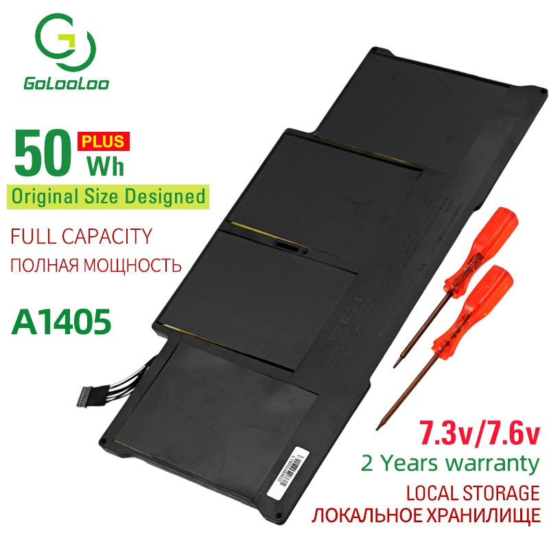 Golooloo 50Wh A1405 New Laptop Battery for Apple MacBook Air 13 A1466 A1369 2011 2012 -2014 year production Replace a1405 A1496