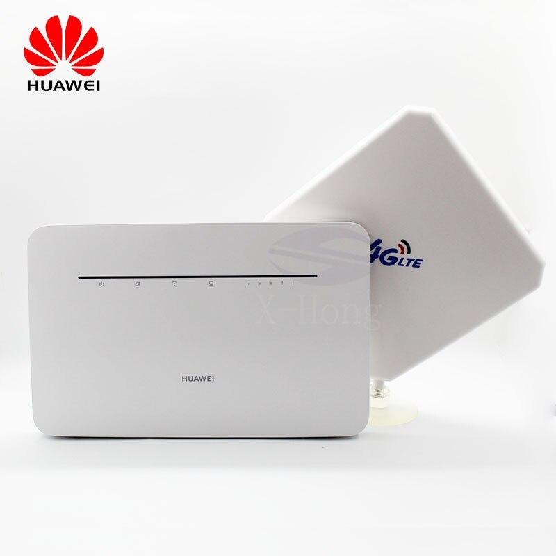 Desbloqueado huawei b535 B535-232 4g wifi roteador sem fio lte com antena wifi roteador de banda larga móvel mifi fio