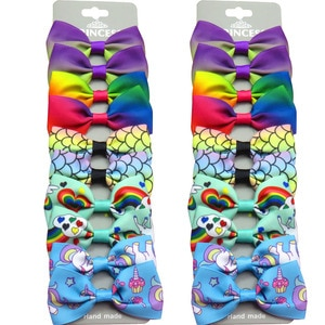 20PCS/Lot Lovely Rainbow Bows Hairpins Grosgrain Ribbon Bows Clips 2020 Korean Creativity Hair Accessories For Baby Girls NEW