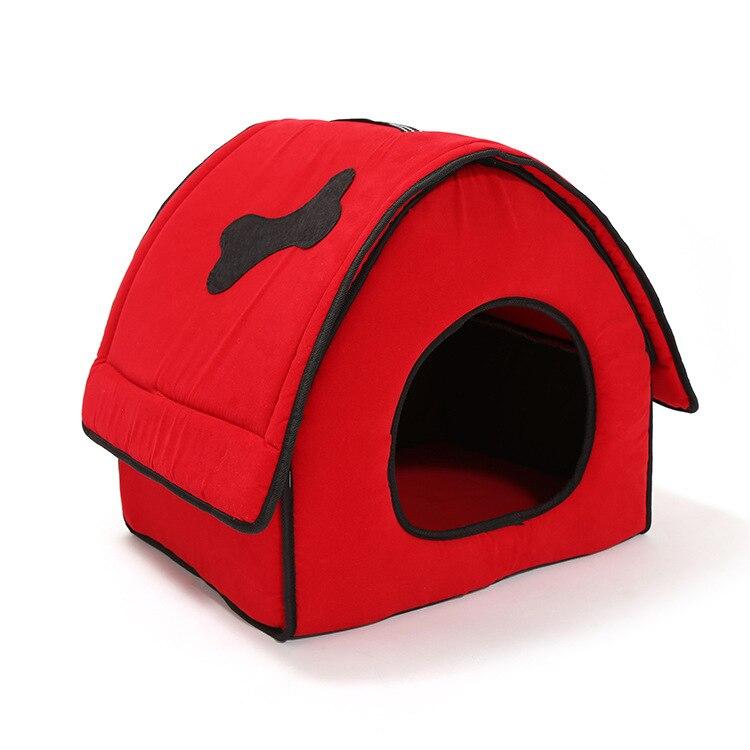 ¡Novedad de Otoño/Invierno! Casa de perro con hueso para mascota, casa de peluche, casa de mascota con cierre, nido para perro, cama para perro, camas para perros pequeños