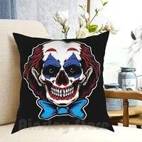 Clown fou Taie Doreiller Imprime Maison Oreiller Doux Clown Cirque Fou Furieux de Film De Bande Dessinee Joker Cinema Super-Heros