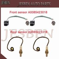 4pcs A0085423318 A0085423018 Front & Rear Lambda Probe O2 Oxygen Sensor fit For Mercedes-Benz S350 CGI W221 BlueEFFICIENCY 11-13