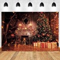 yeele christmas background gift box fireplace light spot board backdrop photography baby birthday party photo studio photophone