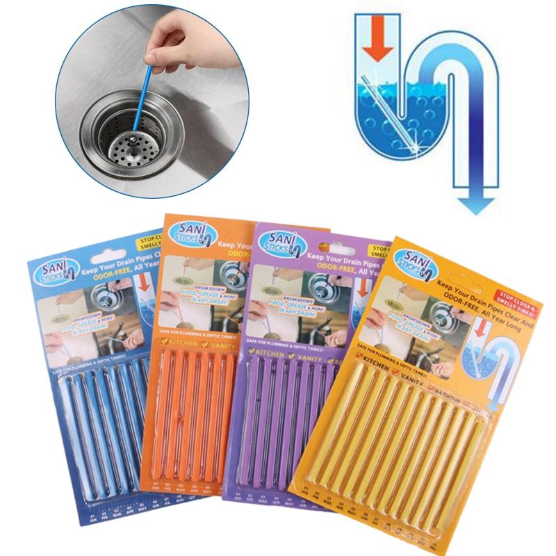 12-pz-set-sani-spiedi-delle-acque-reflue-di-decontaminazione-per-deodorante-cucina-wc-vasca-da-bagno-pulitore-di-scarico-tubo-di-fogna-asta-di-pulizia-dei-capelli-trasparente