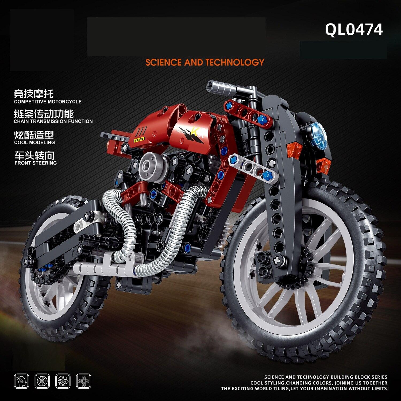 Мотоцикл Автомобиль Мотоцикл выгрузка автоцикл эксперт строительные блоки Мотоцикл Скорость гоночный автомобиль Кирпичи Игрушки