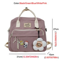 Сумка-рюкзак со значками и брелоком #3