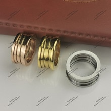 Fashion brand spring classic spring ring lovers Bague men and women engagement ring jewelry symbol o