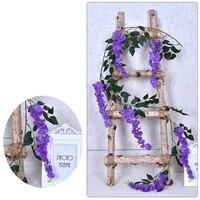 Guirlande de fleurs artificielles en tissu de soie  decoration murale de fond de mariage  reutilisable et lavable  MDJ998