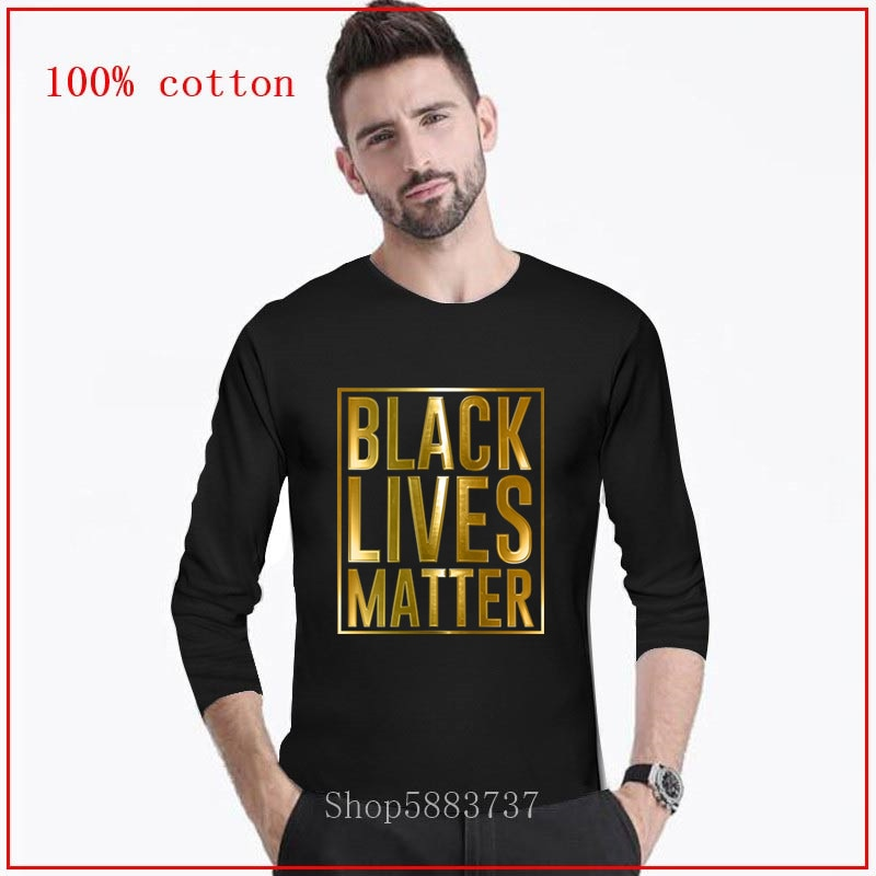 Camiseta rebelde para hombre de Black Lives Matter decir sus nombres Camiseta larga Camiseta con puño de resistencia camiseta con letras estampadas ropa CCCP