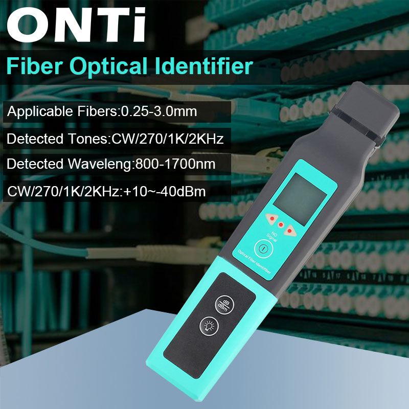ONTi Optic Fiber Identifier Live Fiber Optical Identifier 750nm-1700nm SM and MM Fiber Cable