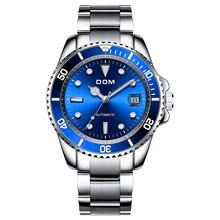 DOM luxe mécanique montre-bracelet hommes Sport montres Relogio Masculino acier inoxydable bande bleu horloge mâle étanche