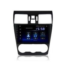 """9 """"DSP 라디오 자동차 1 Din 안 드 로이드 10.0 Subaru Forester GPS 2016 2017 2018 블루투스 64G ROM HDMI 1080P 비디오"""