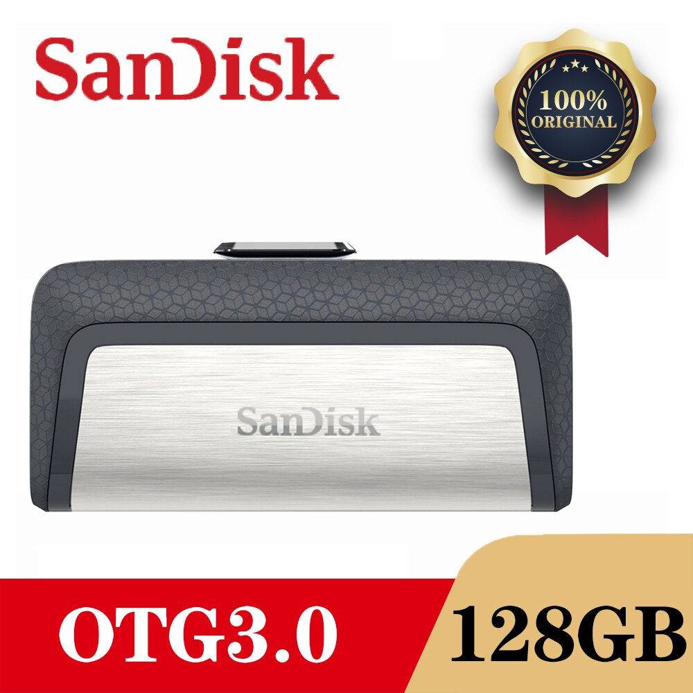 SanDisk DDC2 USB 3.0 OTG Flash Drive Disk 128GB 64GB 32GB 16GB Pen Drive Pendrive Memory Stick Flash drive For PC/Android Type-C