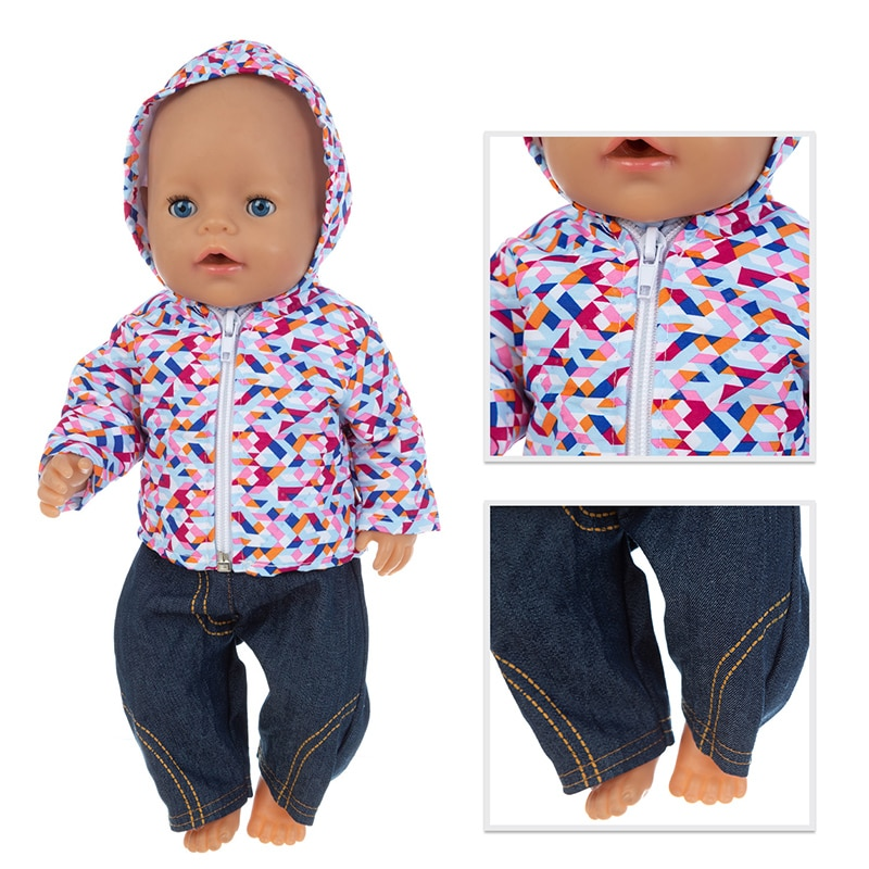 New Down jacket  Baby new born Clothes Fit 17 inch 43cm Doll Accessories For Baby Gift