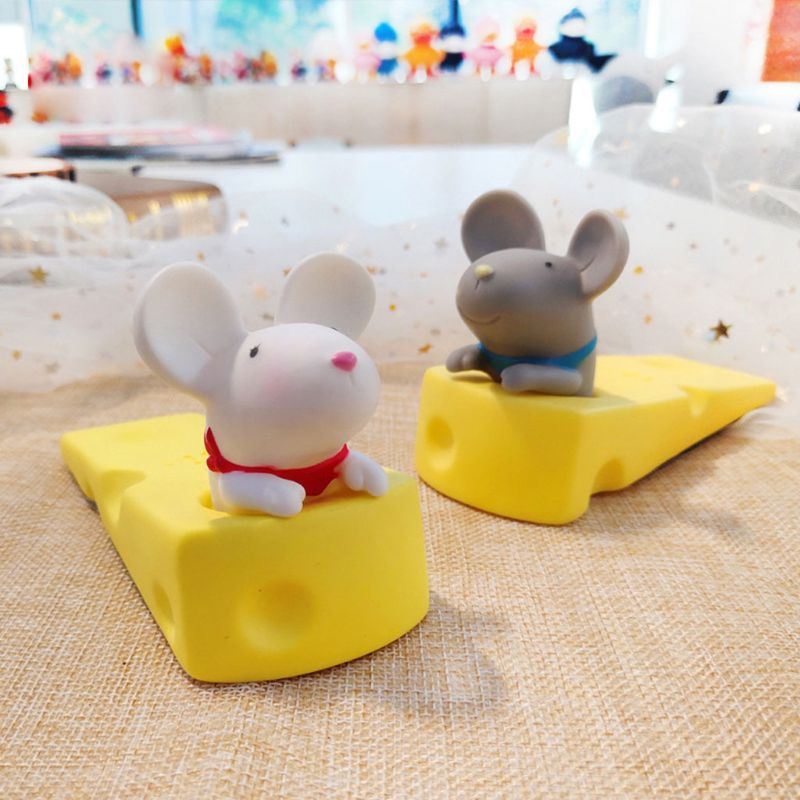 1PC Cute Door Stops Cartoon Creative Silicone Door Stopper Holder Safety Toys For Children Baby Home Furniture Hardware