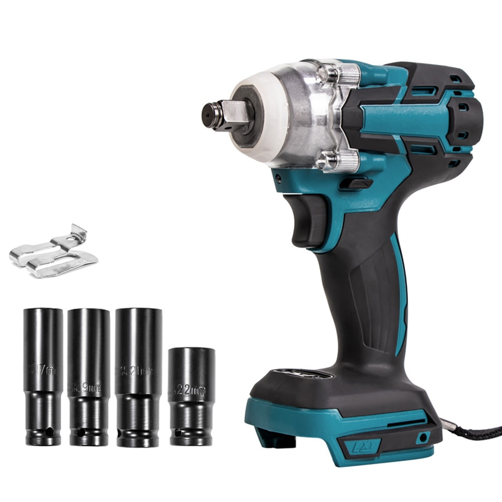 Electric Screwdriver Set Cordless Power Drill Wrench Tool 1/2-inch Chuck 520Nm Torque 3600RPM Brushless Motor NO Battery