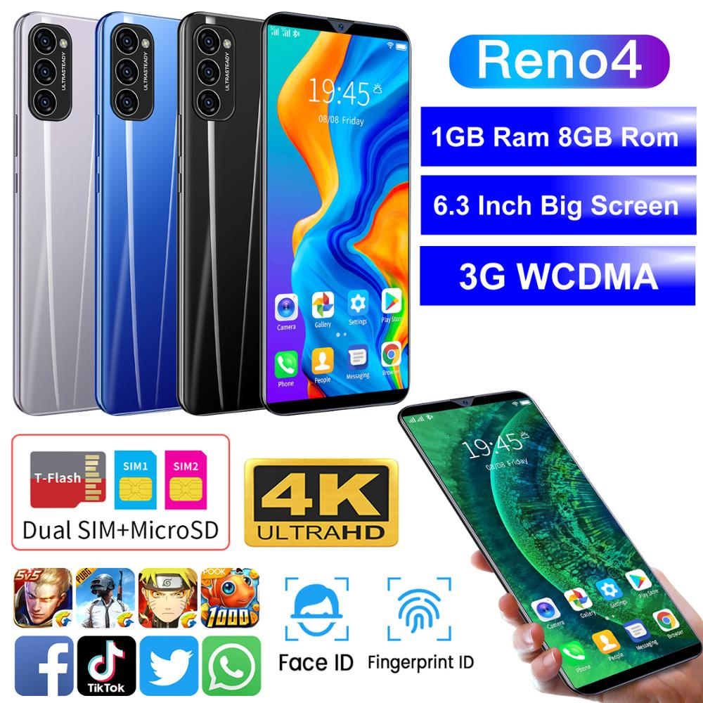 Günstigstes Smartphone CECTDIGI Reno 4 6,3 Zoll Volle Bildschirm Smartphone Android 6,0 1GB RAM + 8GB Entsperrt dual Sim Handy GPS