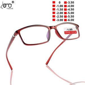 VANLOOK Finished Myopia Glasses Women Men Frame Eyewear Diopters Transparent Optical Eyeglasses Fashion Spectacles -1-1.5  -6.00