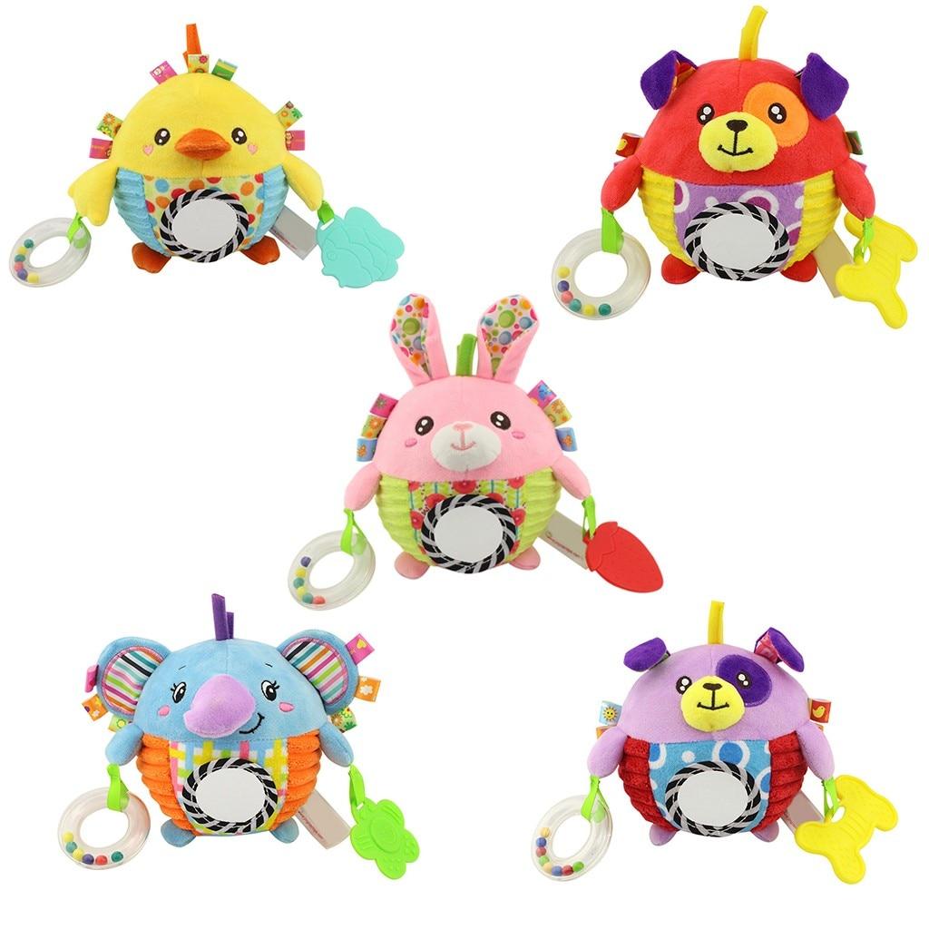 Juguete de felpa Animal viento Chime espiral cama carrito accesorios niños bebé coche colgante muñeca educativa juguete G924