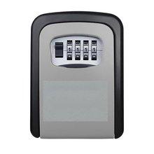 Neue Key Lock-Box Wand Montiert Aluminium legierung Key Safe Box Wetterfeste 4 Digit Kombination Schlüssel Lagerung Lock-Box Indoor outdoo