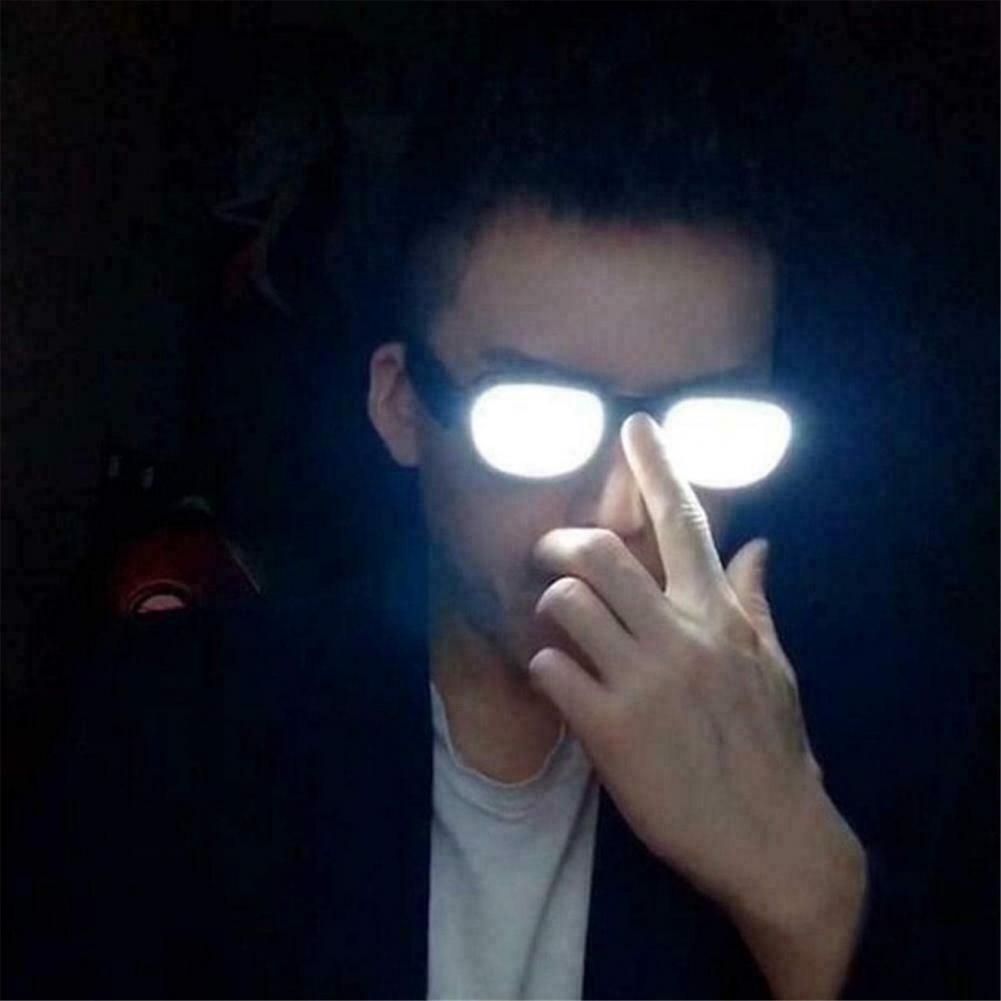 LED Luminous Glasses Light Up Visor Eyeglasses For Halloween Christmas Parties Anime Spoof GlassesEyewear Prop for Party