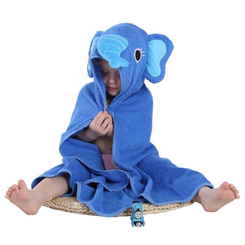 Baby Bath Towel Animal Cartoon Newborn Hooded Bath Robe Comfortable Soft Toddler Beach Spa Blanket Fashion Child Care Supplies