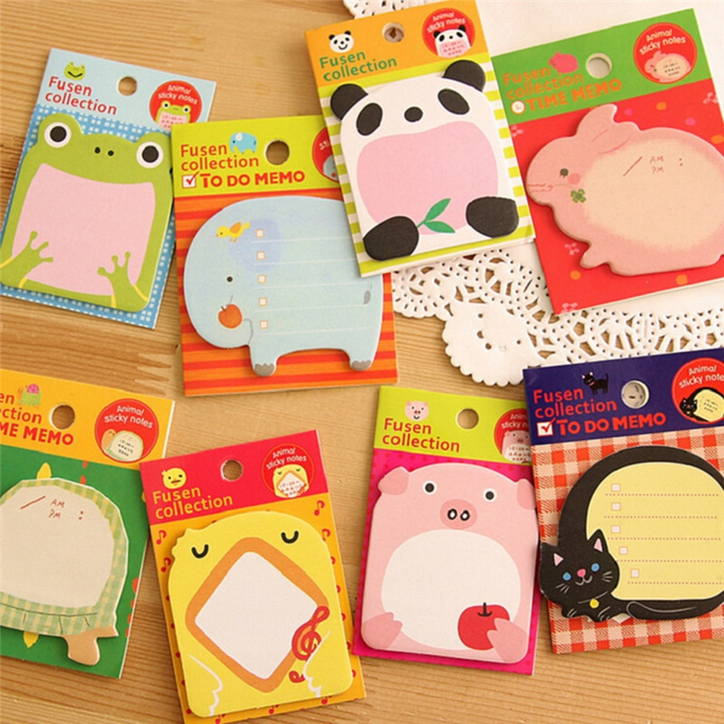 8PCS Animal Cat Panda Cute Kawaii Sticky Notes memo Memo Pad School Supplies Planner Stickers Paper Bookmarks Stationery cute lucky cat animal mini planner sticker notepad sticky notes school supplies material sticky memo agenda notes for student