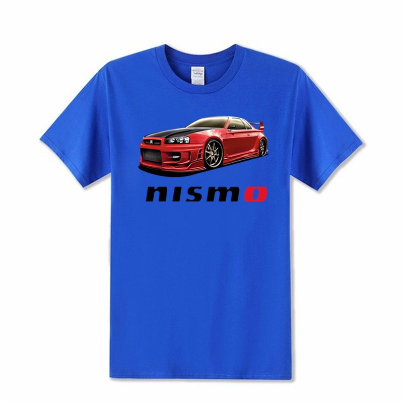 Moda algodón 100% algodón detalles sobre Nisa SKYLINE GTR R32 NISMO GT-R JDM Shinichiro sakulai Camisetas estampadas para hombre