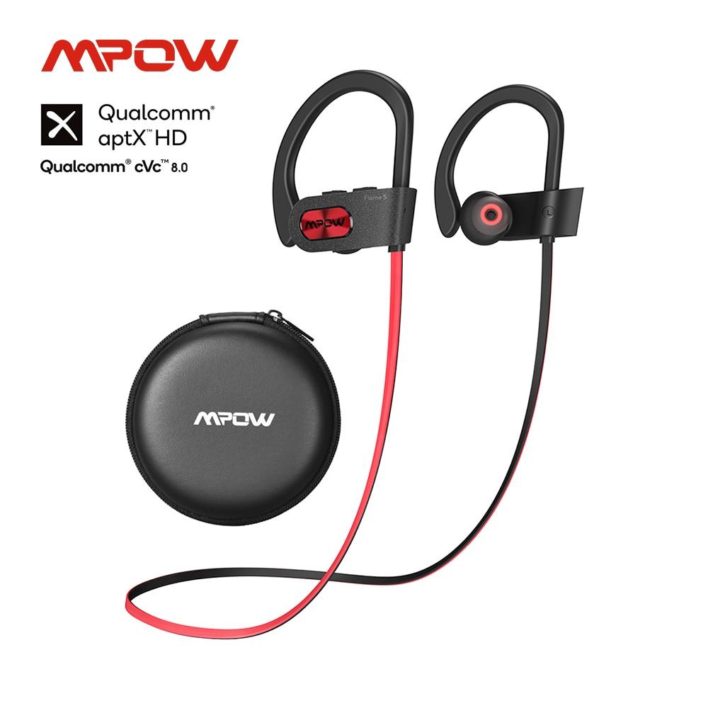 Mpow لهب S بلوتوث 5.0 سماعات رياضية لاسلكية CVC 8.0 إلغاء الضوضاء Aptx-HD الصوت iPX7 Sweatproof 12h اللعب لصالة الألعاب الرياضية