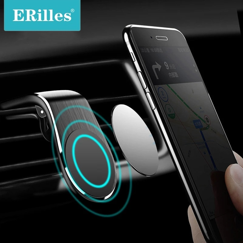 L-Type Car Air Vent Mobile Holder for Phone in Car Mobile phone accessorie Strong Magnet phone holde