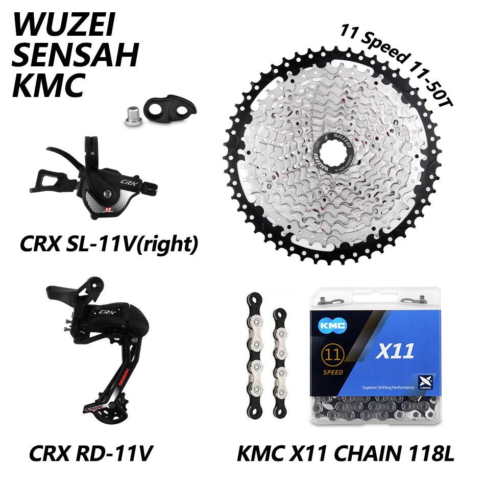 CRX SENSAH 1X M7000 11S Bicicleta Desviadores 11-40/42/46/50T Cassete Volante X11 KMC Cadeia Conjunto Prowheel Manivela mtb Groupset Bicicleta