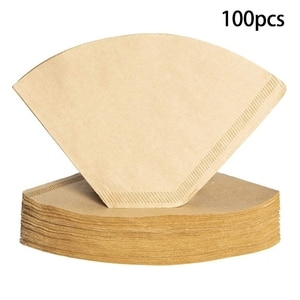 100Pcs Coffee Filters Disposable Cone Paper Coffee Filter Natural Unbleached Filter 4-6 Cup for Pour Over Coffee Makers