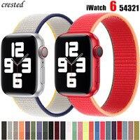 Ремешок для apple watch band 44 мм 40 мм, 42 мм, 38 мм, 44 мм, аксессуары для смарт-часов Ремешок нейлоновая петля браслет наручных часов iWatch Серия 6 5 3 4 se