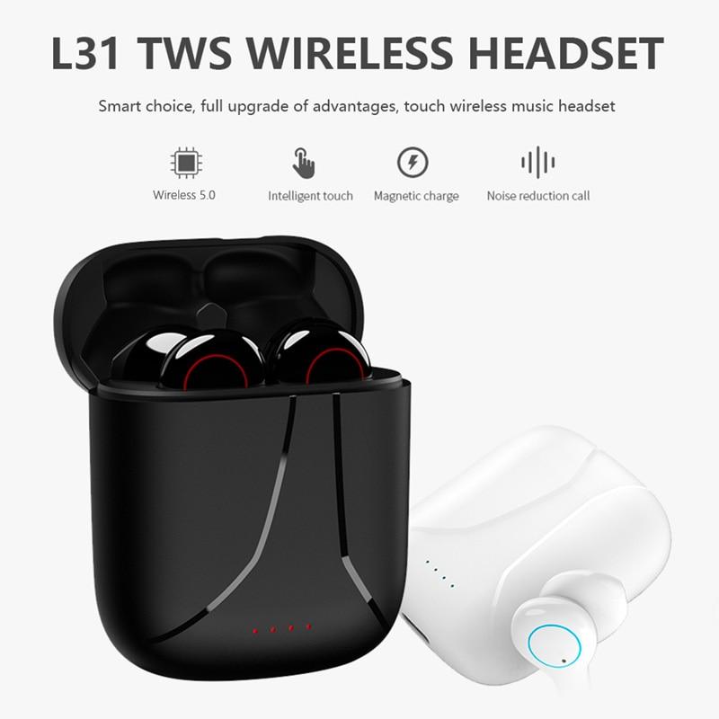 TWS Bluetooth Earphone IPX7 Waterpoor Wireless Headphone HiFi Stereo Headset Touch Wireless Earphones Sport Mini Earbuds enlarge