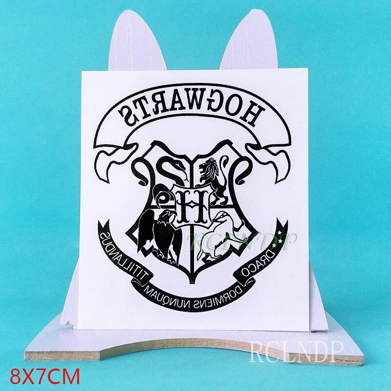 Tatuaje temporal impermeable pegatina película Hogwarts Escuela de brujería y Wizardry falso tatuaje flash para hombres y mujeres