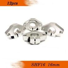 12 pièces SHF16 16mm support darbre linéaire horizontal 16mm Support darbre de Rail linéaire XYZ CNC de Table série shf