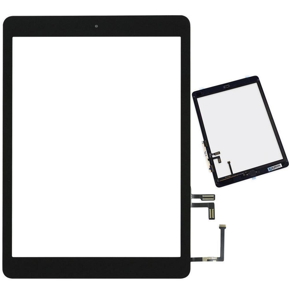 Para iPad 5 Air A1474 A1475 A1476 reemplazo de pantalla digitalizador de vidrio táctil negro + botón de inicio IC con herramienta de desmontaje