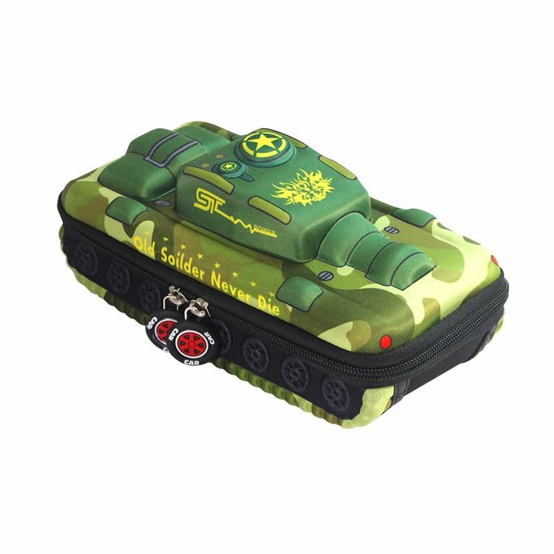 3D Tank Pencil case School stationery box Cute pencil box student pen case Children pen box Boy penc