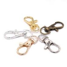 10 adet/grup altın Split anahtarlık döner istakoz kapat bağlayıcı çanta kemer için köpek zincirleri DIY takı yapımı bulguları