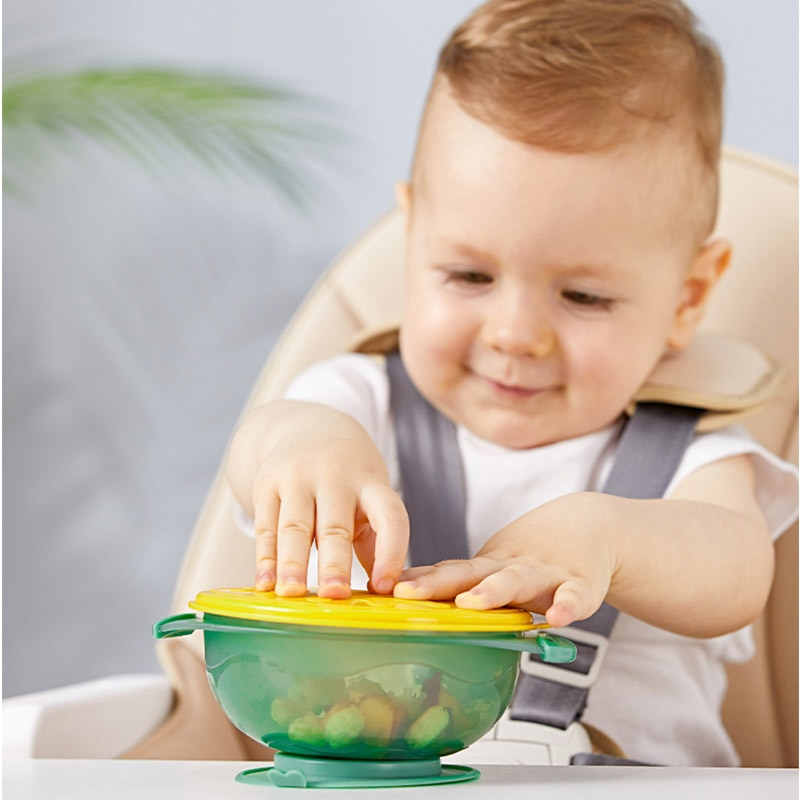 New arrival children's suction cup, straw bowl, anti-splashing baby food supplement feeding tableware baby